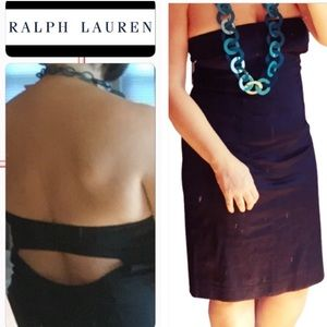 Ralph Lauren Little Black Dress classy sexy Sz 12